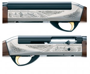 Closeup of the Benelli Montefelto 20 gauge.